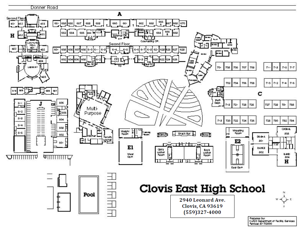 Clovis East HS Campus Map