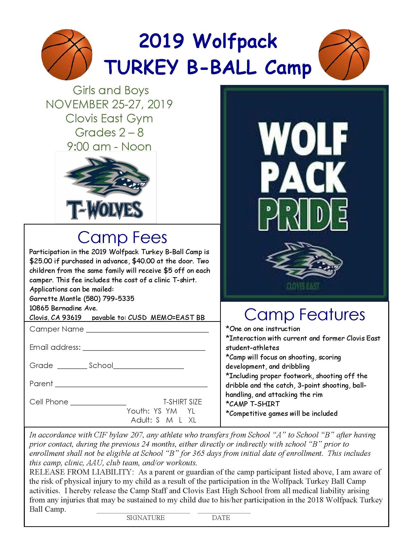 Basketball Camp info